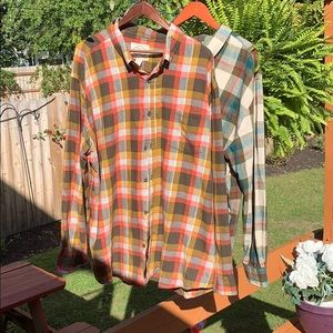 JC penneys St. John's Bay Plaid longsleeve outdoor